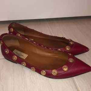 Valentino red flats 100% authentic size 38